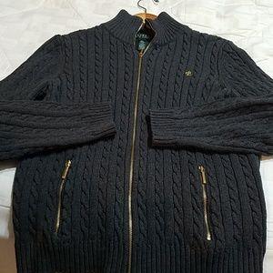 Grey Zipper Sweater